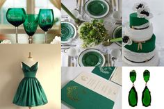 emerald green inspiration board - 2013 wedding color of the year!