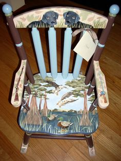 Personalized Handpainted Rocking Chairs   Rocking Chairs for Kids   Children's Wooden Rockers   Kid's Wood Rocking Chairs   The Bedford Rocker  Custom Hand Painted Children's Furniture by Jane Marie