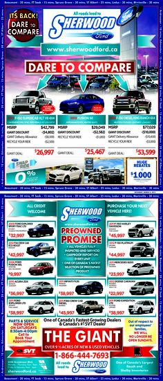 Sherwood Fords New Sales Ad  Swap your Ride is Back!  #yeg #shpk #ford