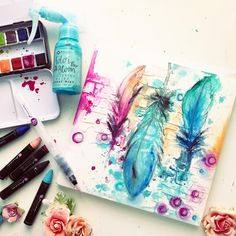 #watercolorwithprima is still happening! Come watercolor with us for the 30 day challenge.