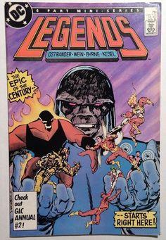 Legends #1 FN/VF 7.0 - 1st App of Amanda Waller Suicide Squad - Byrne DC Comics