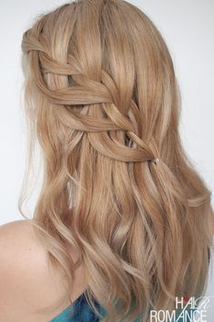 This loop waterfall braid tutorial is the prettiest braided twist and you'll want to try it straight away.