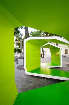 Completed in 2009 in Bratislava, Slovakia. Images by Pato Safko. BA_LIK pavilion designed by Vallo Sadovsky Architects is set in one of the Bratislava's historical squares. Bratislava, Architecture Details, Landscape Architecture, Interior Architecture, Urban Landscape, Landscape Design, Urban Intervention, Artistic Installation, Shade Structure