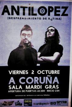 #poster #postersofcorunna #antilopez #music #salamardigras #concert