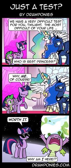 Comic: Just a Test? by drawponies on DeviantArt