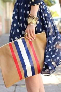 stripes and polka dots. Streetstyle
