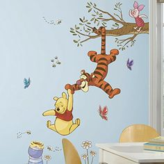Roommates Rmk2463Gm Winnie The Pooh Swinging For Honey Peel And Stick Giant Wall Decals, 1-Pack - Decorative Wall Appliques - AmazonSmile