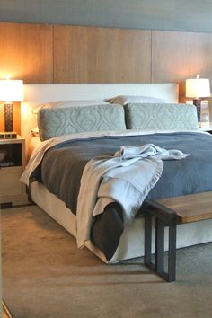 Masculine bedroom decor ideas for guys. How to create a manly bedroom with style by celebrity interior designer. Decor tips that you can really use to make the ultimate bedroom for men, forget the man cave this is the design guide you really need, with design tips and tricks that you can use on any room or any budget.  Luxury design ideas in any style from Modern to rustic.
