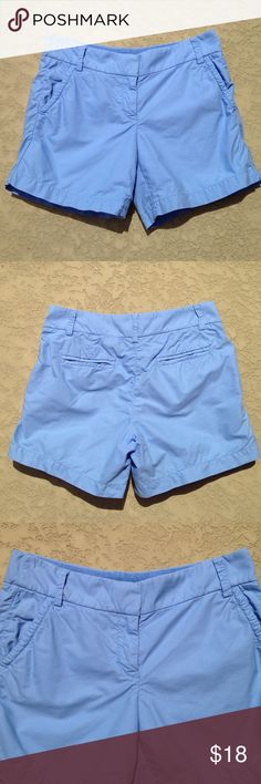 "J. Crew Shorts J. Crew shorts that are 100% cotton. These are such a great blue color. Waist laying flat measures 15"" across and have a 5"" inch inseam. Washed once, never worn. Great condition!!! J. Crew Shorts"