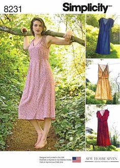 Sewing Pattern Misses Pullover Dress Pattern Midi Dress