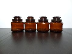 Vintage Dark Amber or Brown Small by DaysLongGoneSalvage on Etsy