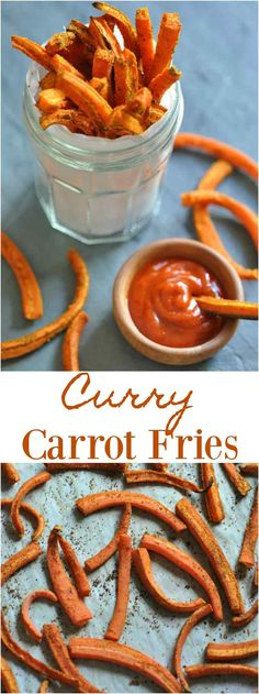Delicious and healthy oven baked Curry Carrot Frie…