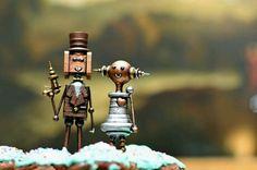 Steampunk cake topper