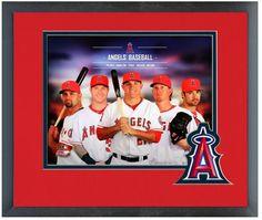 "Los Angeles Angels 2014 Team Composite-11"" x 14"" Framed & Team Logo Matted Photo"