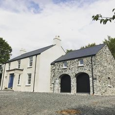 292 Likes, 33 Comments - Inside Number Sixteen Country Home Exteriors, Modern Farmhouse Exterior, Country Homes, Modern Georgian, Georgian Homes, House Designs Ireland, Cottage Front Doors, My Dream Home, Exterior Design