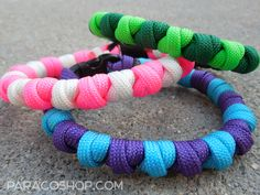 ParaBead Bracelets — one of our unique, stylish weaves. These colorful bracelets…