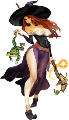 View an image titled 'Sorceress Concept Art' in our Dragon's Crown art gallery featuring official character designs, concept art, and promo pictures. Fantasy Art Women, Dark Fantasy Art, Fantasy Girl, Anime Fantasy, Dragons Crown, Fantasy Witch, Witch Art, Female Character Design, Character Art