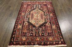 Traditional Vintage Persian Wool  3.5 X 5.4 Oriental Rug Handmade Carpet Rugs - http://home-garden.goshoppins.com/rugs-carpets/traditional-vintage-persian-wool-3-5-x-5-4-oriental-rug-handmade-carpet-rugs/