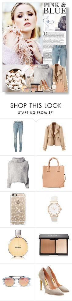 """""""Pink & Blue"""" by andy0008 ❤ liked on Polyvore featuring Balmain, Yves Saint Laurent, Jo No Fui, MANGO, Casetify, Chanel, Westward Leaning and Rupert Sanderson"""