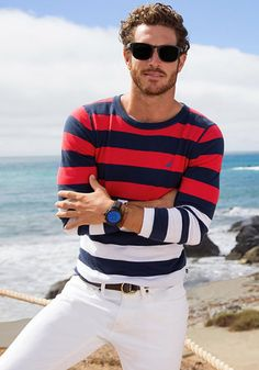 NAUTICA SS 2015 | Men's Fashion | Menswear | Men's Apparel for Spring/Summer | Men's Casual Outfit | Moda Masculina | Shop at designerclothingfans.com
