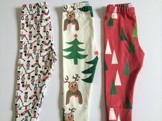Organic Reindeer Leggings NB-4T by nanaPANTSbyjill on Etsy