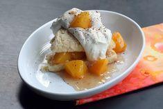 Peach Shortcakes With Cream Scones Dessert Sauces, Dessert Recipes, Dessert Ideas, Snacks Recipes, Free Recipes, Shortcake Recipe, Peach Compote, Kitchens, Desert Recipes