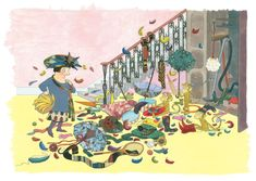 Emma Chichester Clark's illustrations for Quentin Blake's new book Three Little Monkey