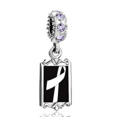 Pugster Alexandrite Color Swarovski Crystal Dangle White Ribbon Awareness Photo Silver Plated Bead Fits Pandora Charms Chamilia Biagi Bracelet Pugster. $16.49. Weight (gram): 3.8. Metal: Crystal. Color: Silver,Green. Size (mm): 9.42*2.6*27.54