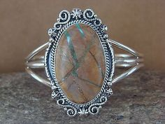 Navajo Indian Jewelry Sterling Silver Boulder Turquoise Bracelet