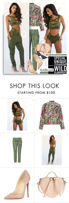 """""""RickyBrazil.com: Women: special, unique, extravagant, wild and glamorous"""" by hamaly ❤ liked on Polyvore featuring Rachel Antonoff, sass & bide, Christian Louboutin, Marc Jacobs, Dries Van Noten, ootd, swimwear, SpringStyle and rickibrazil"""