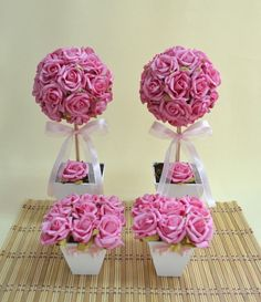 Pastel Wedding Centerpieces, Diy Wedding Decorations, Balloon Decorations, Craft Stick Crafts, Diy And Crafts, Dusty Rose Wedding, Flower Boutique, Hand Bouquet, Baby Shower Princess