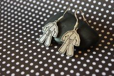 Karate Uniform Earrings by dezziesdazzles on Etsy, $5.99