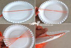 Paper Plate (and Coffee Stick) LOOM | krokotak