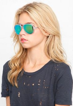 Gorgeous Rau-Ban sunglasses! Cats Matte Transparent Sunglasses in 19-Green - designed by Ray-Ban $130