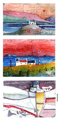Miniature Watercolour Paintings by the artist, Glen Craig.