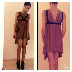 Inside out silk dress by AS