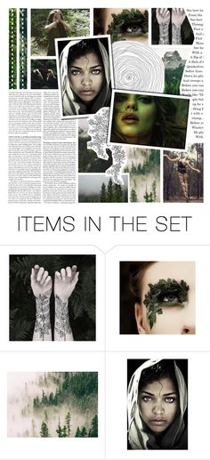"""""""nymphs of the forest"""" by shattered-tempest ❤ liked on Polyvore featuring art"""