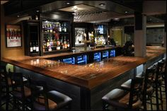 Installing a bar in your home is a great way to make sure that when you have company over everybody has a fun place to spend time together. A dedicated bar spac Man Cave Basement, Man Cave Garage, Basement Bedrooms, Basement Bathroom, Basement Ceilings, Basement Apartment, Man Cave Apartment Ideas, Basement Staircase, Basement Shelving