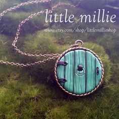 """58 Likes, 4 Comments - LittleMillieShop (@littlemillieshop) on Instagram: """"The large version of the Hobbit Door Necklace. Made from polymer clay on a metal base. Different…"""""""