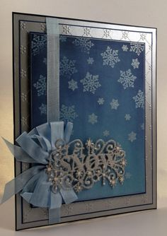 Another GORGEOUS make by John Lockwood to show you today - this is absolutely lovely and makes us feel all warm and cosy and ready for the snow! John has created the sentiment using the Let it Snow Die by Sue Wilson, and the beautiful snowflakes have been stamped using the Regency Snowflakes A6 Clear Stamp by Phill Martin!  Visit John's blog to find out how to make this lovely Christmas Card:http://johnnextdoor.blogspot.co.uk/2014/11/creative-wednesday-back-in-uk.html