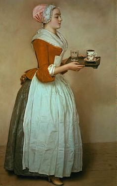 Alte Werbung - La Belle Chocolatière - Das Schokoladenmädchen