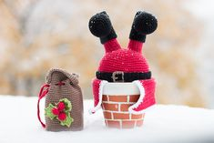 Kostenlos auf Ravelry: Weihnachtsmann im Schornstein pattern by Vegarn