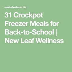 31 Crockpot Freezer Meals for Back-to-School | New Leaf Wellness