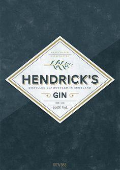 Hendrick's gin packaging / logo