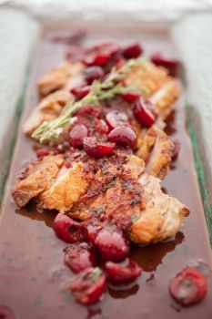 Breast of Duck With Cherries and Thyme