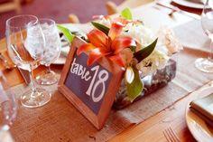Chalkboard Wedding Table Number
