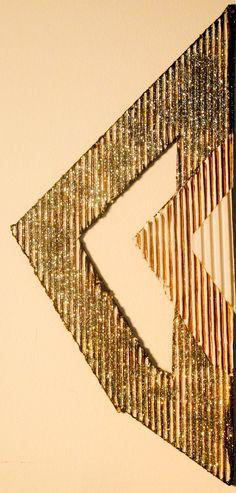 Arrow 1. 18 x8.5 Acrylic on Bas-relief Cardboard. 2016
