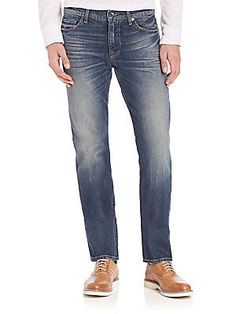 7 For All Mankind Slim Straight Jeans - Seaside Vintage - Size