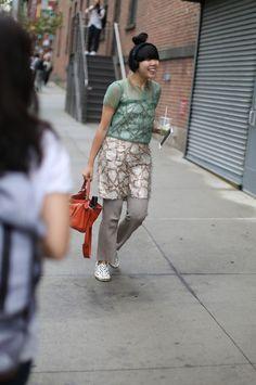 Show veteran Susie Bubble knows sensible footwear is key... #NYFW