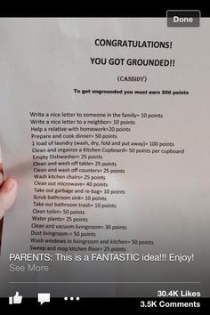 If I have kids, I SOOOO want to do this. Responsibility and accountability matter.